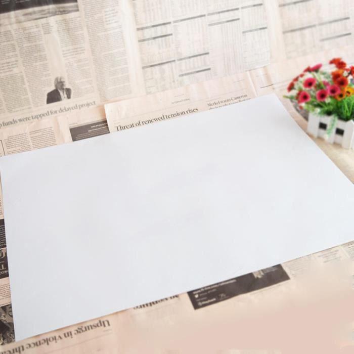 Écologique Amovible PVC Étanche Tableau Blanc Enfants Dessin D'écriture Effaçable 47*65 cm