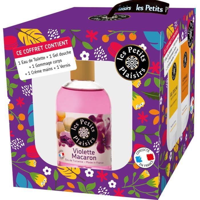 LES PETITS PLAISIRS Coffret Nature eau de toilette - Senteur Violette Macaron