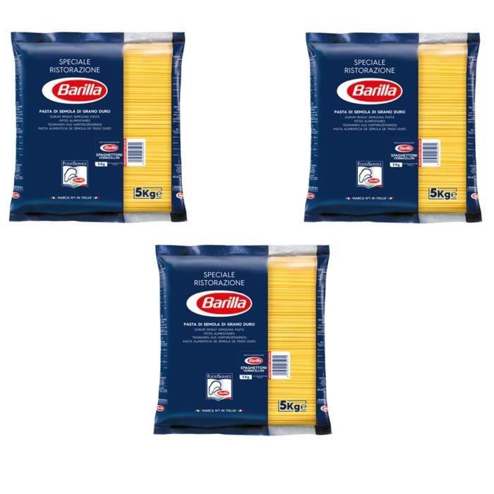 BARILLA Pâtes Spaghettoni - Lot de 3 Paquets de 5 kg