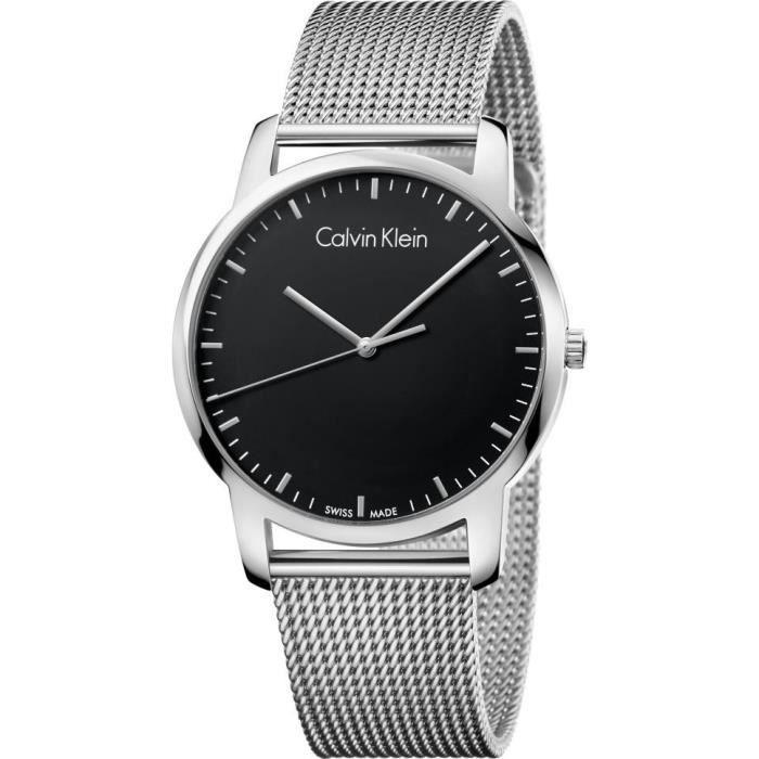 Calvin Klein CITY K2G2G121 Montre-Bracelet pour hommes Fabriqué en Suisse