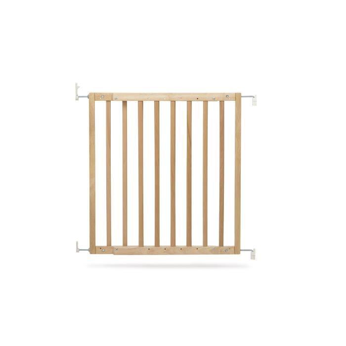 GEUTHER Barrière extensible en Hêtre naturel pour porte et escalier - Réglable : 63,5 - 105,5 cm