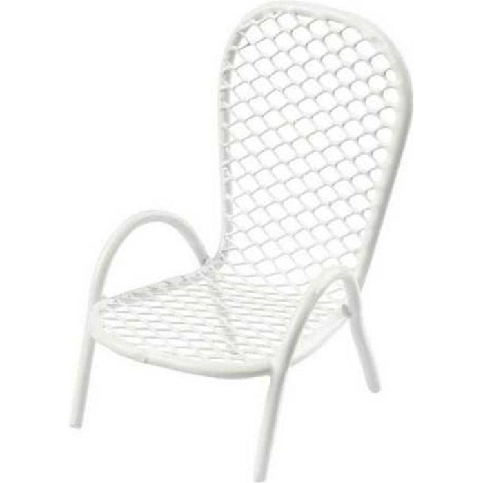 Mini chaise jardin blanche