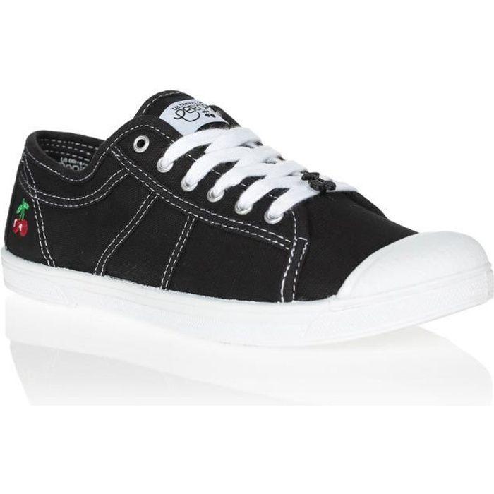 LE TEMPS DES CERISES Chaussures Basic 02 Black Noir/Blanc Femme