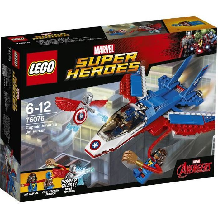 LEGO® Marvel Super Heroes 76076 La poursuite en avion de Captain America