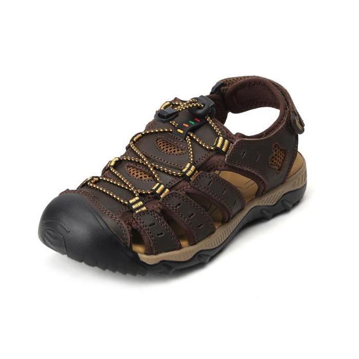 Sandale de Randonnée Extérieur Homme Plage Grand Taille Antidérapage Chaussures Homme Printemps Ete Taille 38-48