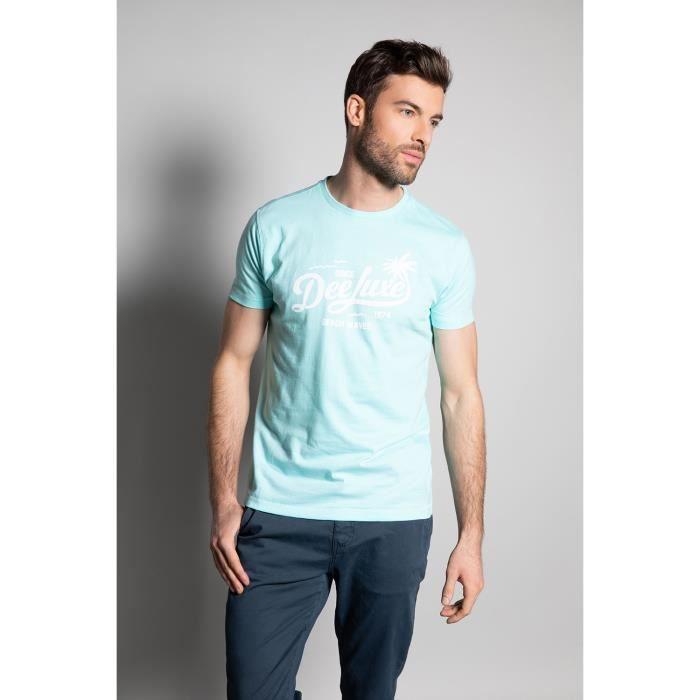 DEELUXE T-shirt col rond logoté AKAU Lagon