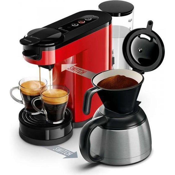 PHILIPS SENSEO Switch Machine à café à dosettes et filtre Rouge HD6592/81