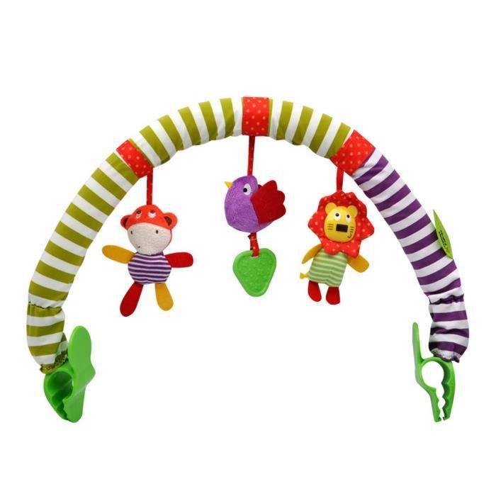 Poussette bébé joue arc pendentif arc-en-ciel avec pince peluche poupée poupée sensorielle voyage pram activité bar suspendu jouet s