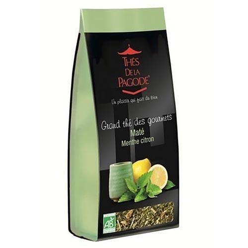 Thés de la Pagode Grand thé des gourmets Maté Menthe citron bio 110gr