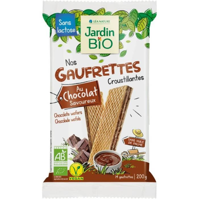 JARDIN BIO Fines gaufrettes chocolat bio - 200g