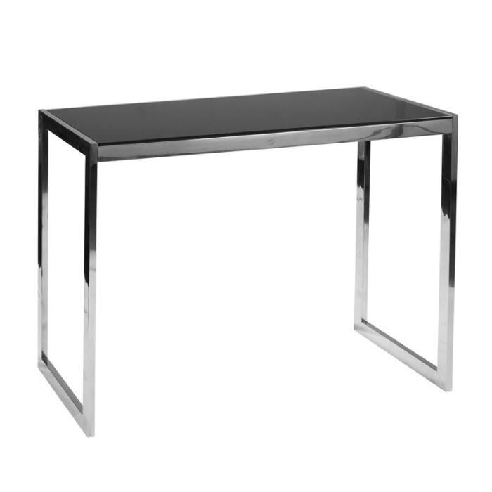 console en verre noir karel achat vente console console en verre noir karel cdiscount. Black Bedroom Furniture Sets. Home Design Ideas