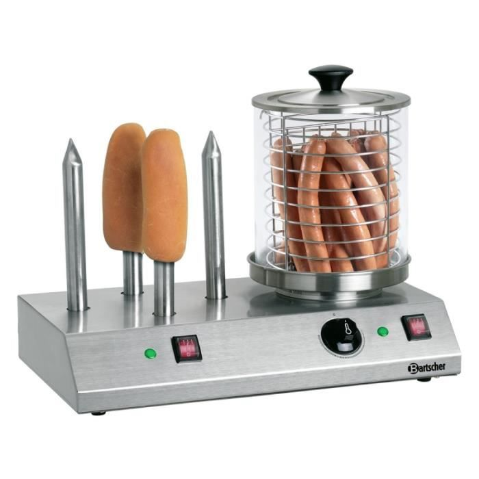 MACHINE À HOT DOG Appareil à hot-dogs avec cylindre et plots chauffé