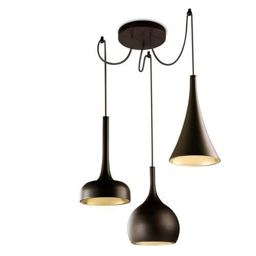 Triple suspension retro sixties achat vente triple for Lustre suspension triple