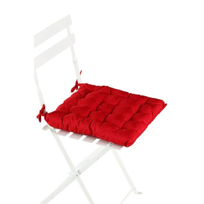 coussin de chaise rouge achat vente coussin de chaise cdiscount. Black Bedroom Furniture Sets. Home Design Ideas