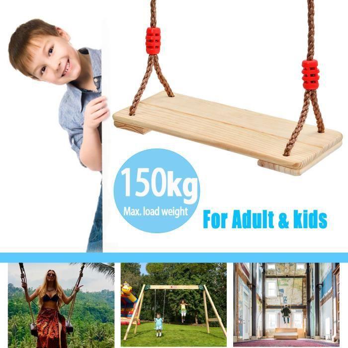 Balan/çoire de jardin en bois pour ext/érieur en bois pour adultes et enfants