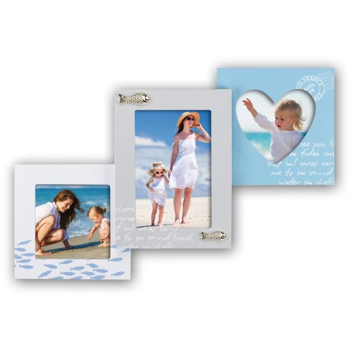 plage cadre photo p le m le 2x10x10 1x10x15 achat vente cadre photo cdiscount. Black Bedroom Furniture Sets. Home Design Ideas