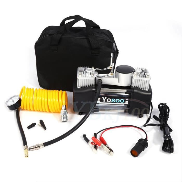COMPRESSEUR 12V Portable 60L Pompe à air compresseur d'air de pneu