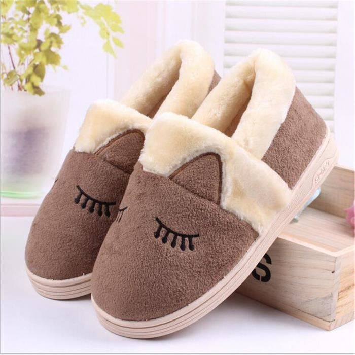 Hiver Yeux Timides Chaussure Homme Ouvelle Peluche Mignonne Zy01 Arrivee Chausson ItYqwYZ