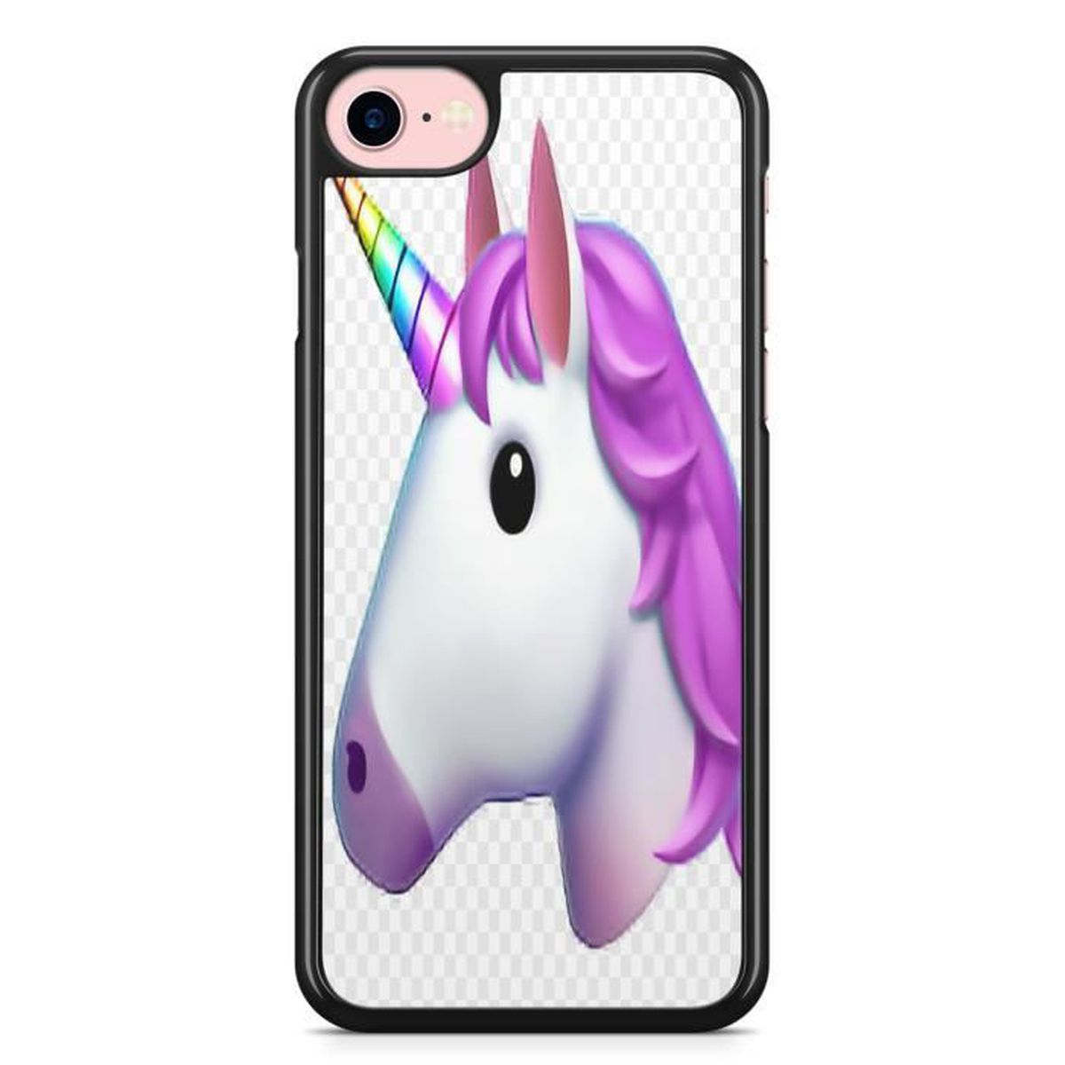 coque iphone 4 4s tete de licorne fille princesse