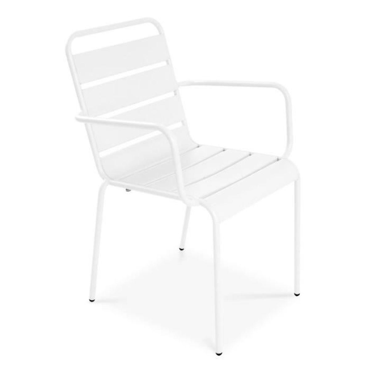 chaise de jardin design en m tal blanc achat vente. Black Bedroom Furniture Sets. Home Design Ideas