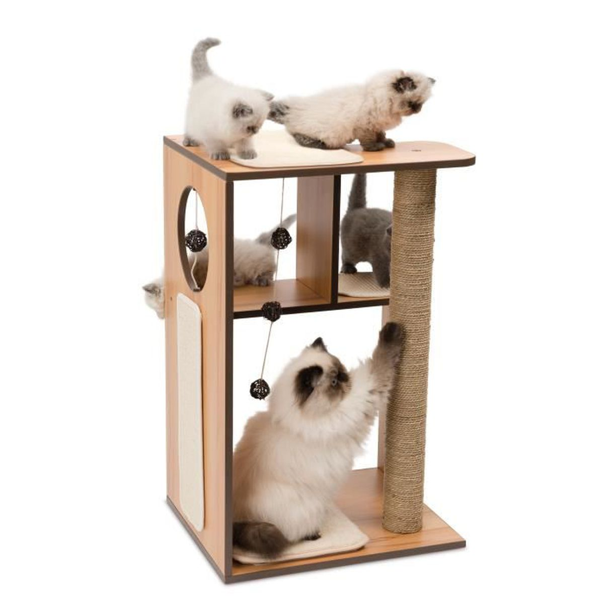 vesper arbre chat box l naturel achat vente arbre chat arbre chat box l cdiscount. Black Bedroom Furniture Sets. Home Design Ideas