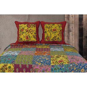 JETÉE DE LIT - BOUTIS Boutis Couvre-lit Patchwork Floral Multicolor 230x