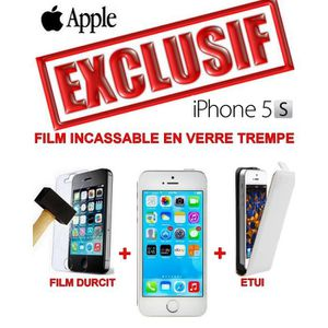 SMARTPHONE PACK COMPLET APPLE IPHONE 5S SILVER RESISSTANT