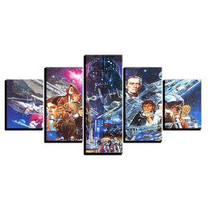 TABLEAU - TOILE Toiles imprimées 5 pièces Star Wars Movie Modern p