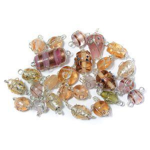 12-25 mm Sachet 20 G Bijoux-Perles de verre avec argent fil