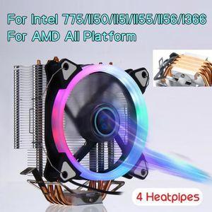 VENTILATION  WANG  TEMPSA Ventilateur Processeur RGB Pour Intel