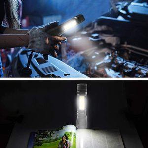 LAMPE DE POCHE Nouvelle lampe rechargeable T6 COB Zoomable LED To