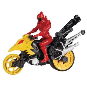 ROBOT - ANIMAL ANIMÉ POWER RANGERS Moto Cascade + figurine 12 cm Rouge
