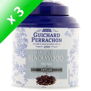THÉ GUICHARD PERRACHON Thé noir Ceylan - (Lot de 3x 10