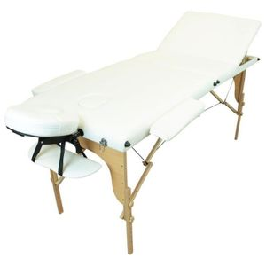 Table de massage Table de massage pliante 3 zones en bois avec pann