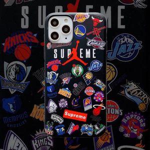 COQUE - BUMPER Coque iPhone 11,Supreme Air Jordan Noir 1 Silicone
