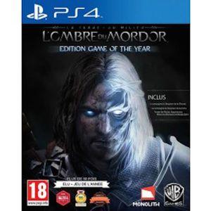 JEU PS4 La Terre Du Milieu - L'ombre Du Mordor - Goty