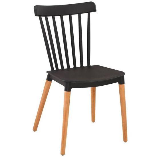 Chaise à barreaux design scandinave ICONIC noire mate