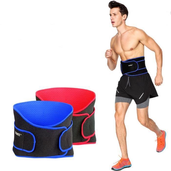 Ceinture force maintient lombaire anti douleur dos soutient reins Sport musculation fitness HTGYM bleue TU