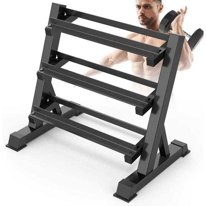 Supports Haltères Rack de Rangement pour Haltères de Musculation en Acier au Domicile/Salle de Sport, Capacité de Charge à 300KG