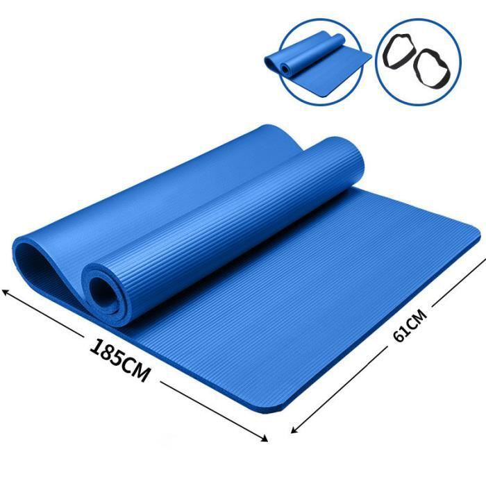 185x61x1cm-tapis de Yoga tapis antidérapant tapis Fitness gymnastique tapis santé perdre du poids Fitness exercice tapis