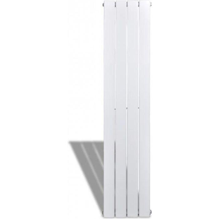 Radiateur chauffage panneau blanc hauteur 150 cm largeur 31,1 cm pratique design moderne et élégant 3902019