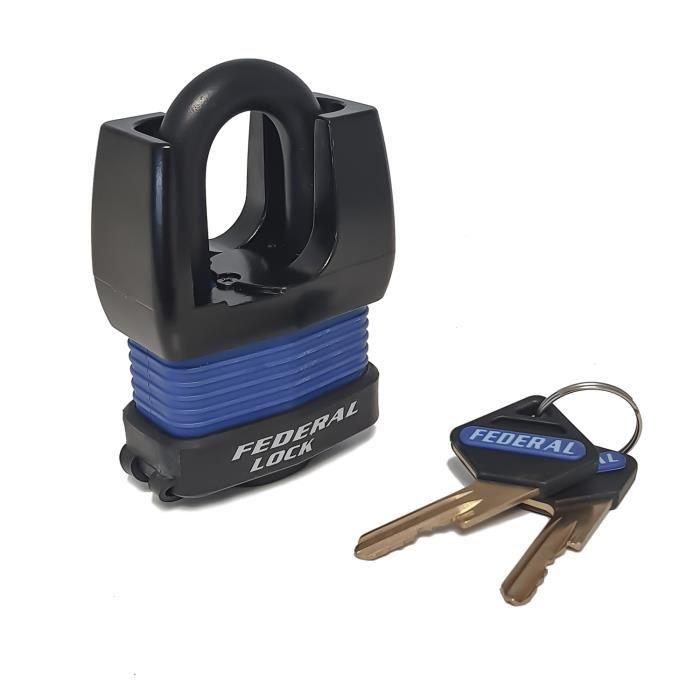 Federal Lock -Cadenas code et anse protégée 090807