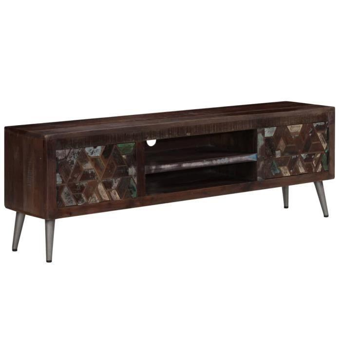 Luxueuse Meuble TV, Buffet Bas MEUBLE HI-FI Pour Salon Haut de gamme & CHIC - Armoire tele Table television Bois de récup ®ORPQZA®