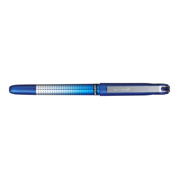 Uni-ball Eye Needle Roller noir, rouge, bleu encre pigmentée à base d'eau 0.5 mm fin pack de 3