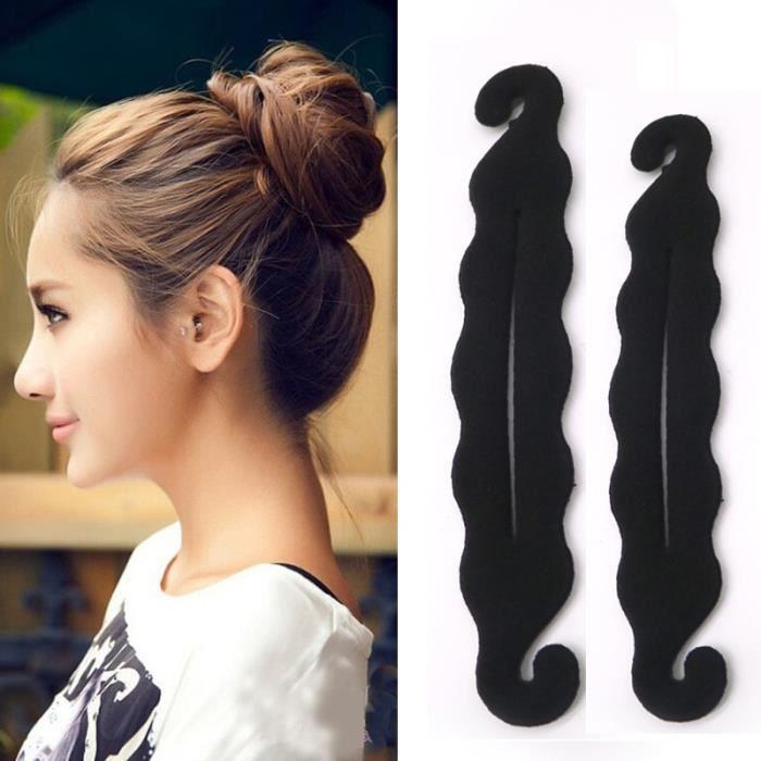 Pince à cheveux pour filles, accessoires pour chignon, bricolage, Design, outils de coiffure, disque -2pcs Style 17