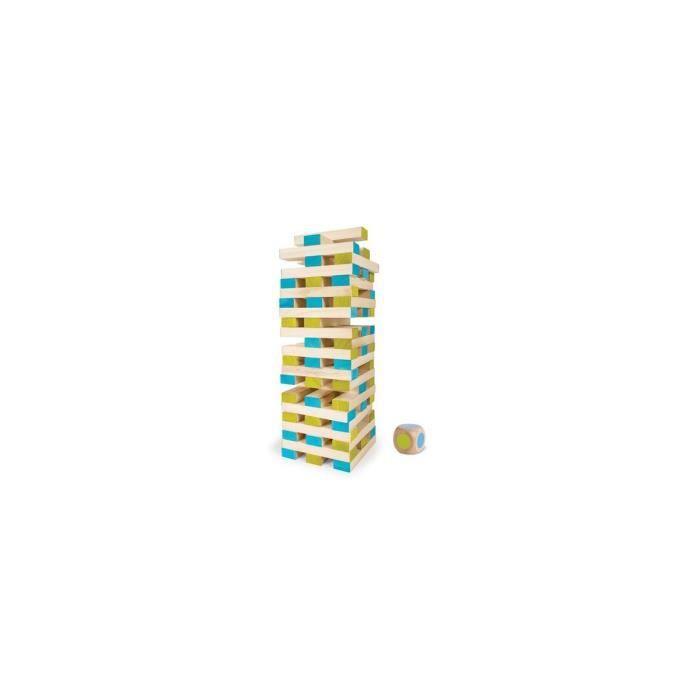 Tour maudite geante en bois 1 metre (60 blocs + 1 de) - Jeu de soci?t? XXL