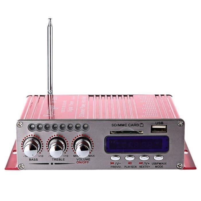 Kentiger Amplificateur StÉRÉO De Puissance De Sortie Des Basses Superbes Bluetooth Hi-Fi Hy-502S 2Ch Avec TÉLÉCommande Lecteur De