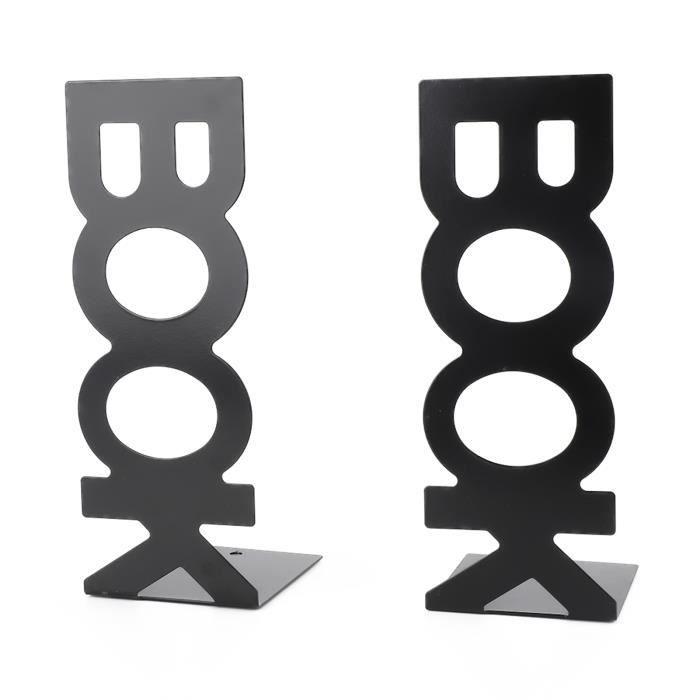 Garosa Serre-livres 1 paire de livres de caractères forme livre support serre-livres en métal pour la décoration de table à la