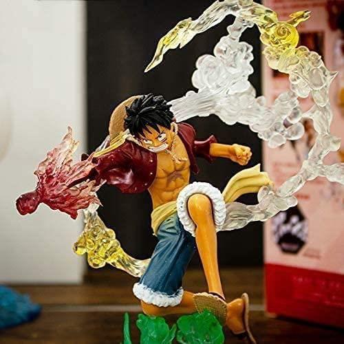 17CM Figurine Anime One Piece Luffy Fire Punch Figure New World Version PVC Collection Nouveau Monde Modèle Figurine Décoratio A14