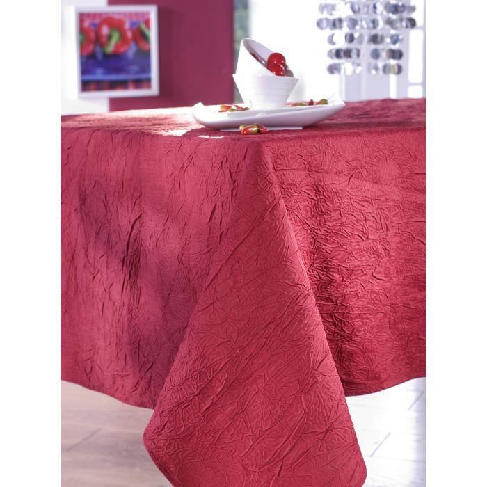 Nappe en taffetas froissé carmin 150x350 cm